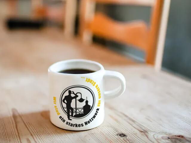 Tasse mit dem Logo der WVL